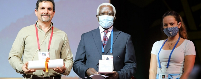 Tropenbos Ghana Board Chair Receives Highest Conservation Award from IUCN
